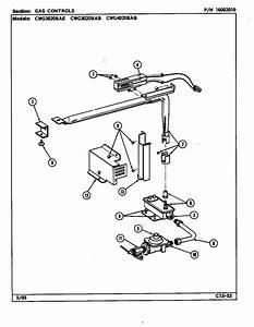 Gas Controls Diagram  U0026 Parts List For Model Cwg3020bab