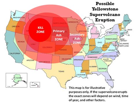 yellowstone around zone volcano death supervolcano many eruption road