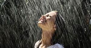 Feel-good: The feeling of rain falling on your face on a ...