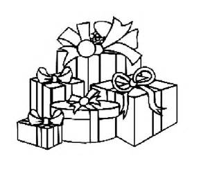 Christmas Presents Coloring Pages in Color