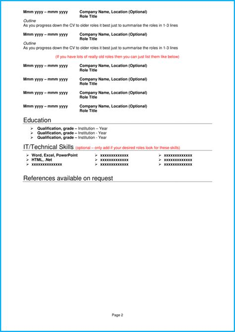 Blank Cv Template by Blank Cv Template 8 Cv Exles Get Noticed