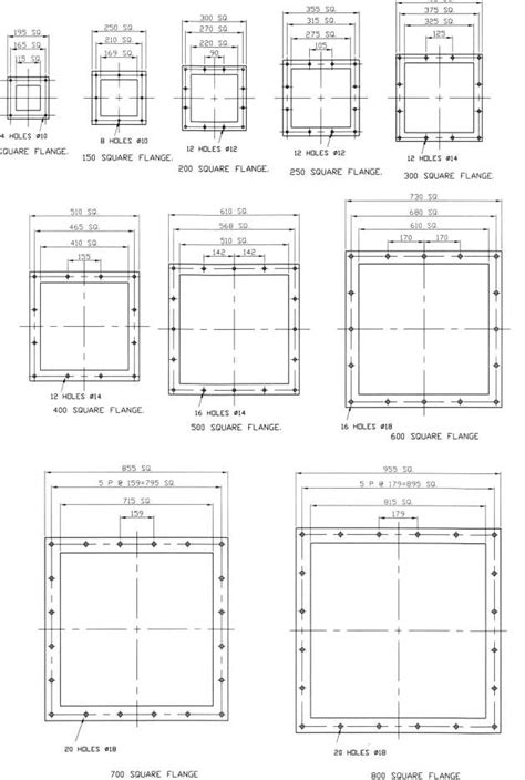 BULKMATIC standard equipment sizes ROUND FLANGE square