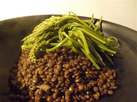 jatte cuisine cuisine aspergettes et lentilles vertes cerda artisanat