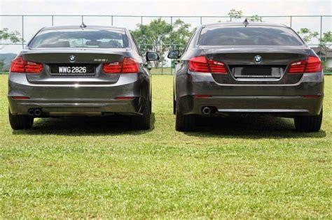 2012 Bmw F10 5 Series Vs F30 3 Series