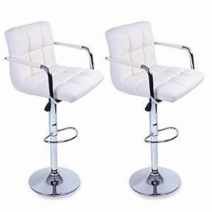 Chaise De Bar Avec Accoudoir : tresko lot de 2 tabourets de bar chaise de bar chaise lounge avec dossier et accoudoir 8 ~ Teatrodelosmanantiales.com Idées de Décoration