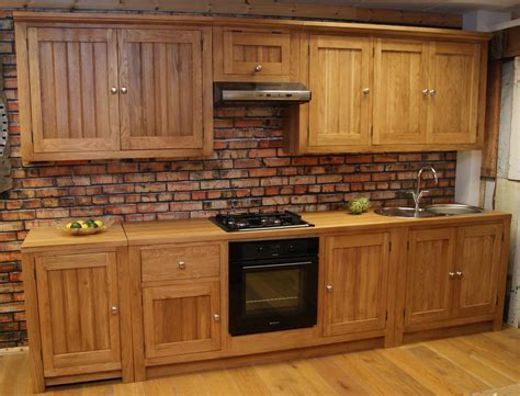 Builders Kitchens   Oak Free Standing Kitchens   The most