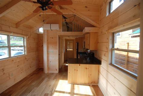 34' x 12' Greyson w/Porch   Park Model Log Cabin
