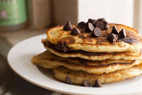 chocolate chip pancakes chocolate chip pancakes recipe dishmaps