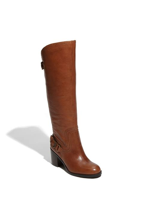 franco sarto tempest boot brown cuoio lyst