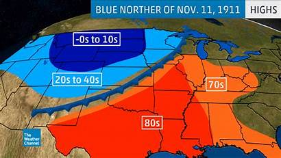 Weather Cold 1911 Temperatures History Fronts Maps