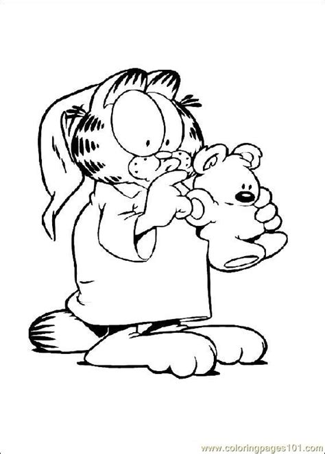 coloring pages garfield  cartoons garfield