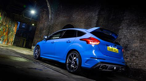 wallpaper ford focus rs hatchback blue night cars