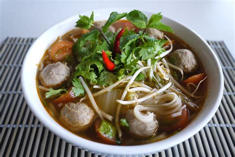 cuisine laos noodle soups in laos food in laos indochinadaytours