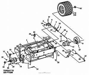 Bunton  Bobcat  Ryan 942249f Zt227 27hp Kaw W  61 Side Discharge Parts Diagram For Brakes  Rear Wheel