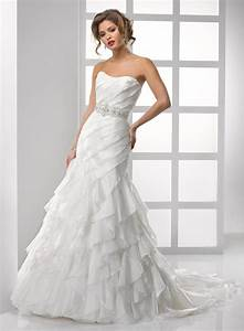 organza wedding dress with ruffles sangmaestro With organza wedding dress