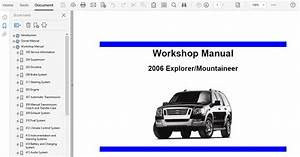 2006 Ford Explorer Repair Manual