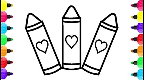 crayons coloring pages   draw cute crayons