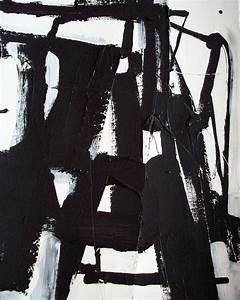 Original geometric black and white modern art abstract ...