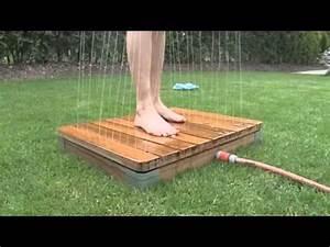 die einzigartige gartendusche youtube With whirlpool garten mit balkon sichtschutz holz selber bauen