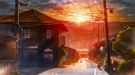 Anime City Scenery Wallpaper - anime city scenery wallpapers free computer desktop