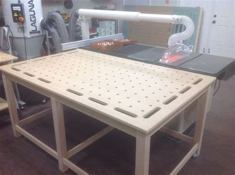 mftoutfeedclamping table woodworking workshop