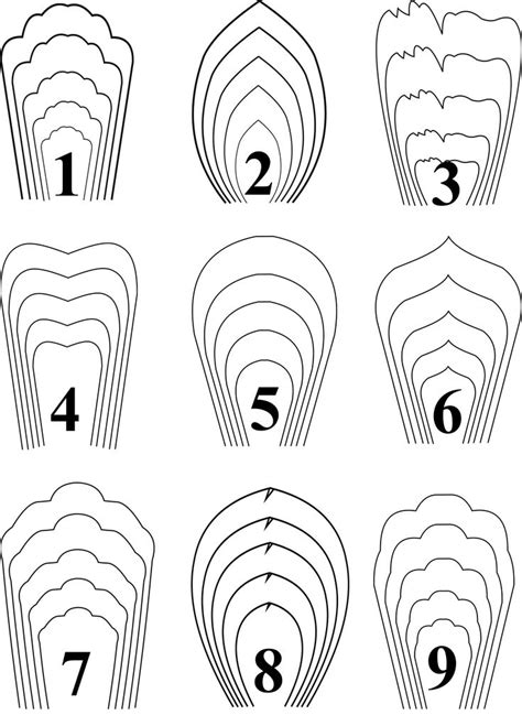 Paper Flower Template All 20 Pdf Svg Diy Paper Flower Template Paper