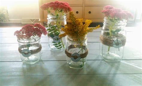 fall centerpieces with jars quick diy mason jars and twine fall centerpieces
