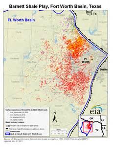 Barnett Shale Texas Map