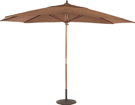 8 x11 wood oval patio umbrella with pulley