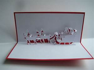 Pop Up Karte Weihnachten : pop up karten pop up karte weihnachtsmann mit schlitten rentier ein designerst ck von ~ Buech-reservation.com Haus und Dekorationen