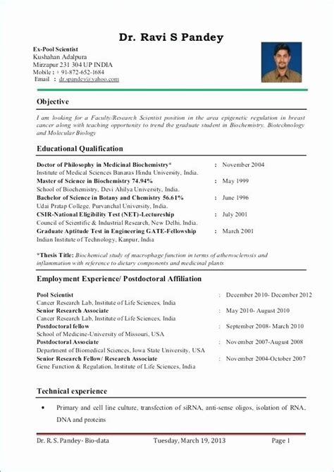 for zoology lecturer 3 resume format sle resume
