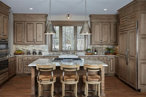 hickory kitchen island rustic hickory kitchen with alder cabinets k2 timber frame