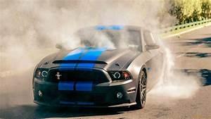 Black Mustang Burnout Wallpaper Wallpaper | WallpaperLepi