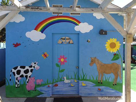 preschool wall murals daycare mural examples wall
