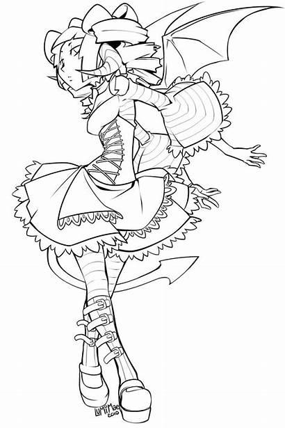 Succubus Coloring Lineart Lolita Designlooter Drawings Mae