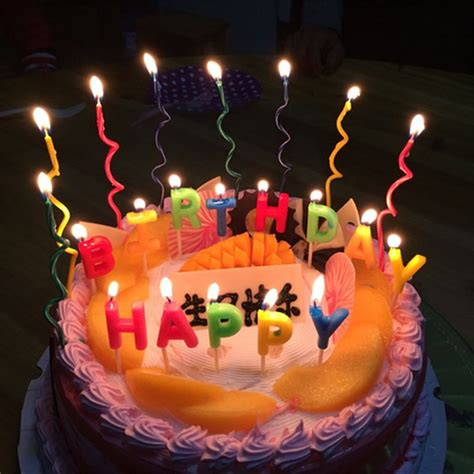 pcs happy birthday candle letters cake candles birthday
