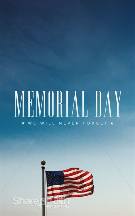 memorial day  forget ministry bulletin secular