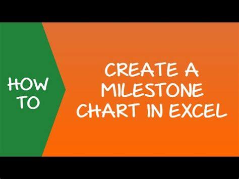 create  milestone timeline chart  excel youtube