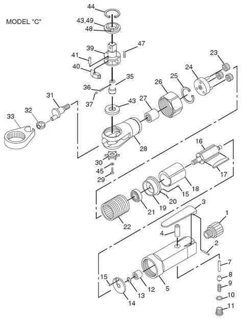 Chicago Pneumatic CP825 Air Ratchet Repair Parts