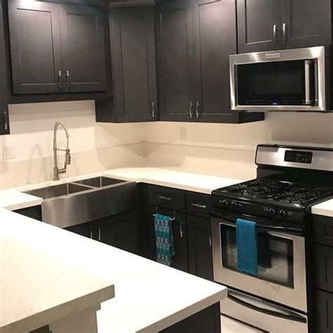 ash grey shaker lesso cabinets