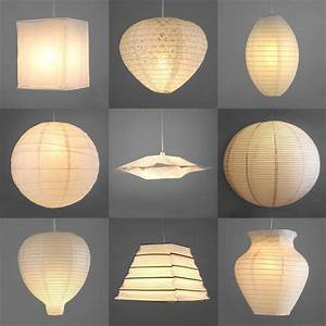 Pair, Of, Modern, Paper, Ceiling, Pendant, Light, Lamp, Shades, Lanterns, Lampshades, White