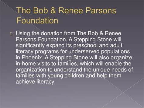 bob amp renee parsons foundation pledges 360k to a stepping 305 | bob renee parsons foundation pledges 360k to a stepping stone 3 638