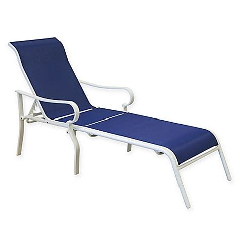 blue chaise lounge never rust aluminum chaise lounge in blue white bed bath