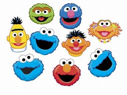 Sesame Street Clip Heads Instant Characters Clipart