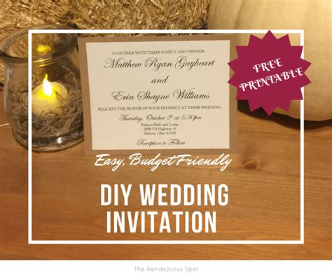 easy diy wedding invitations with free printable the