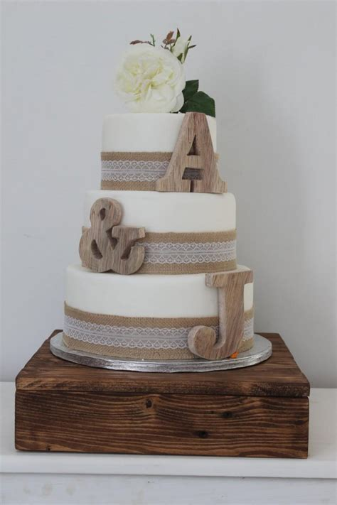 Rustic Wedding Cake Toppers Personalised Cake Toppers