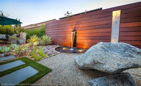 Unique Modern Water Feature & Garden Light Design   Contemporary   Landscape   Orange County