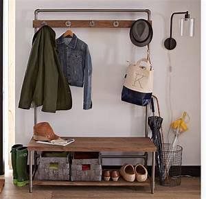 Garderobe Aus Rohren : cute solution for small hallway storage issues flurgarderobe m bel aus rohren und flur m bel ~ Watch28wear.com Haus und Dekorationen