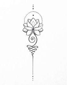Image result for unalome lotus flower meaning | Tattoo ideas | Tattoos, Flower tattoos, Unalome