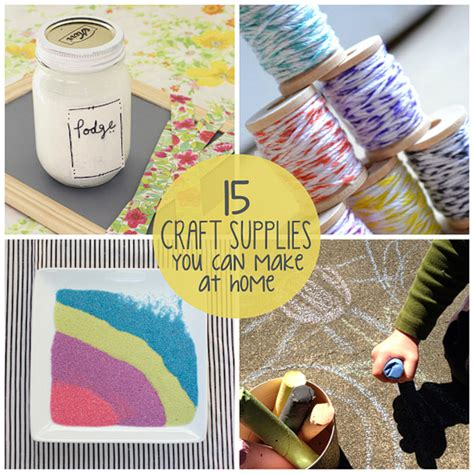 crafts to make at home 15 craft supplies you can make at home